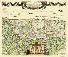 Old Israel Map - Terra Sancta, Province of Judea - DeWitt 1670 - 27.69 x 23