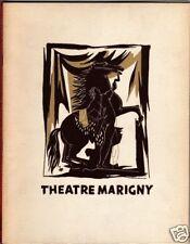 Jean-Louis Barrault Souvenir Program Theat.Marigny 1949