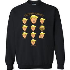 6ee1c9678113 Trump Icons CREWNECK Sweatshirt President Donald Trump Icons Emoji  Sweatshirt Sw