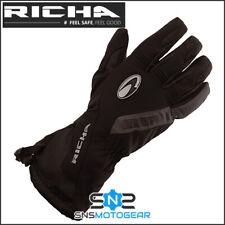 Richa Tundra EVO Waterproof Breathable Motorcycle Motorbike Gloves - Black