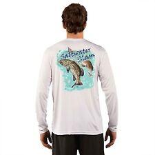 Microfiber Fishing Shirt Long Sleeve UPF Sun Protection Dri Fit Grouper Redfish