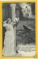 Titanic Memorial Postcard - Poem Ship Bamforth
