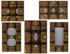TUSCAN ITALIAN MOSAIC TILE PRINT - TUSCAN KITCHEN DECOR LIGHT SWITCH PLATE