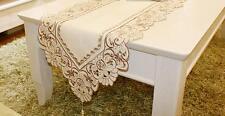 Gris Floral Chemin de Table Pastoral Broderie Maison Décoration