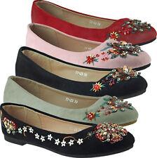 Classica Ballerine da donna scarpe tessile kunstvelourleder pietre gioiello