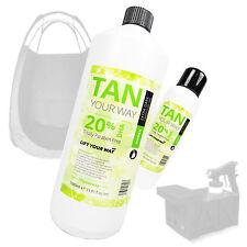 Professional Extra Dark Spray Tan Tanning Solution. HVLP & Airbrush. 20% DHA.