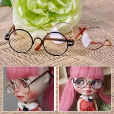Black /Gold Metal Frame Eye Glasses Accessory Fit for Neo Blythe Doll Girl Gift