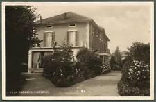 NOVARA GOZZANO 31 VILLA VISCONTINI Cartolina FOTOGRAFICA viaggiata 1938