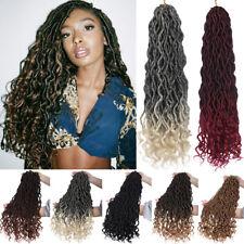 """20"""" Goddess Faux Locs Curly Crochet Braids Real Locs 24PC Braiding Hair as human"""