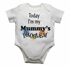 Today I'm My Momias Problema Divertido Enterizo para Bebé mono camiseta Regalo