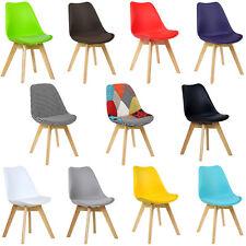 2 x Esszimmerstühle Küchenstuhl Design Stuhl Kunstleder Holzgestell #713