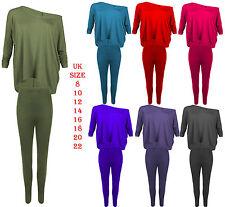 Femme Femmes Baggy Tops Lounge Wear Survêtement Jogging Costume Set LAGENLOOK PANTALON