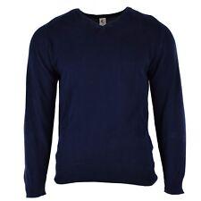 Original British pullover V-Neck blue sweater Wool