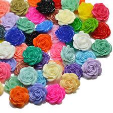 20mm Résine Rose Fleur Lucite Flatback cabochons Craft embellissements bijoux