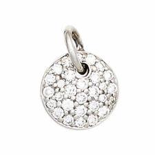 Weißgoldanhänger rund 29 Diamanten Brillanten 585 Gold Weißgold Anhänger 42086
