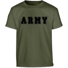 KIDS BRITISH ARMY T-SHIRT 100% COTTON SOLDIER FANCY DRESS BOYS 5-13 YEARS CADET
