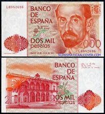 2000 pesetas 1980 JUAN RAMON JIMENEZ  SC - SPAIN SPANIEN Pick 159  UNC