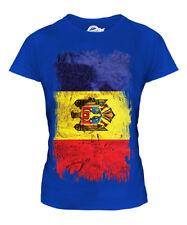 MOLDOVA GRUNGE FLAG LADIES T-SHIRT TEE TOP MOLDOVAN SHIRT FOOTBALL JERSEY GIFT