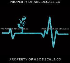 VRS Heart Beat Line MAJORETTE Baton Twirling Marching Band Lead CAR METAL DECAL