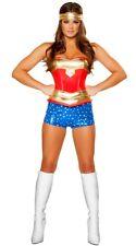 Sexy Super Heroine women's Halloween Costume Modern Wonder Woman corset & Shorts
