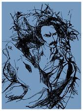5159 Jose MArti CUban POSTER.Room Interior design.Kitchen  Blue Decorative Art