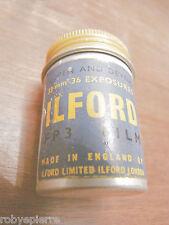 Scatola in latta x 35 mm 35mm ILFORD fp3 film 1956 vintage box only no pellicola
