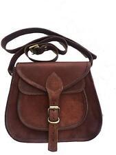 "13"" Dakota Women Vintage Brown Leather Messenger Cross Body Bag Handmade Purse"