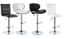 2 Tabourets de bar pivotant à 360° réglable chaise en cuir synthétique f035