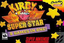 RGC Huge Poster - Kirby Super Star Super Nintendo SNES BOX ART - KIR005