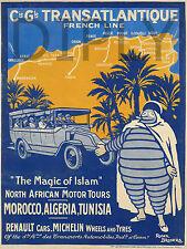 REPRO DECO AFFICHE THE MAGIC OF ISLAM MOROCCO ALGERIA SUR PANNEAU MURAL BOIS HDF