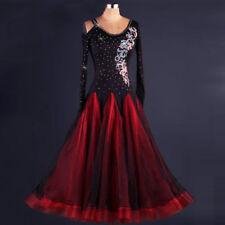 Ballroom dancing dress modern waltz standard game rhinestone dress
