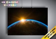 Poster Lever Du Soleil Espace Externe Monde Terre Soleil