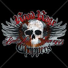 Road Rage Choppers Since 1985 Skull Wings Motorcycle Biker T-Shirt Tee