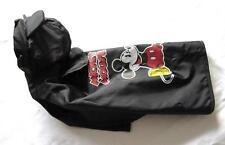 Neu Hunde Regenmantel mit Kapuze S M L XL Farbe schwarz süßes Motiv klkxde