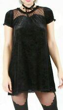Iron Fist Sweetheart tunic Top Black Velvet Baby Doll Spiderweb's mini Lolita