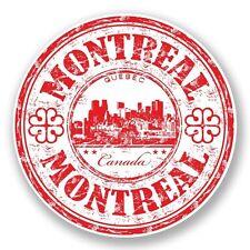 2 x Montreal Quebec Canada Vinyl Sticker Laptop Travel Luggage Car #5974
