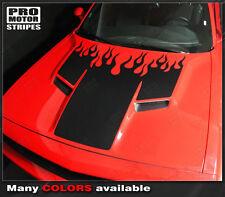 Dodge Challenger 2015-2016 Fire Flame Hood Stripes Decals (Choose Color)