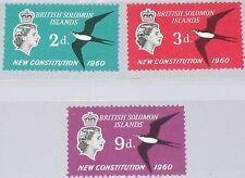 SOLOMON SALOMON ISL. 1961 98-100 106-08 Great Frigate Bird New Constitution MNH