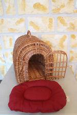 Katzenkorb mit Kissen Katzentransportkorb Katzenhöhle Weidenkorb Katze Korb Neu