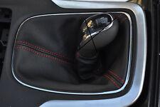 Rojo Stitch se adapta a Opel Opel Astra J Mk6 2009 + Cuero Gear Polaina