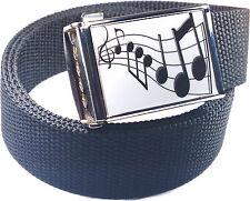 Music Notes Belt Buckle Bottle Opener Adjustable Web Belt