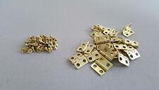 CERNIERE Mini Oro 13x12mm Fai da Te Scatole Craft modelli Casa delle Bambole Legno b004 + VITI