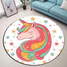 High Quality! Charming Unicorn with Rainbow Hair Area Rug Floor Door Mat Rugs