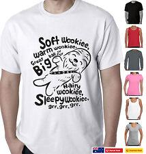 Funny T-Shirts Star wars Soft kitty Big bang parody Wookie Ladies Men's Aussie
