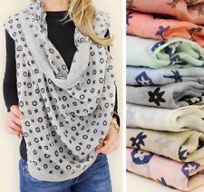 XXL Loop Scarf Trend Fashion Schal Tuch Scarf schwarz weiß A6