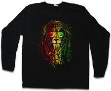 RASTAFARI LION I LONG SLEEVE T-SHIRT Bob Reggae Music Marley Haile Selassie