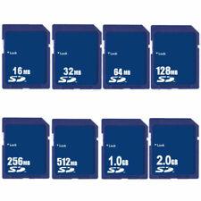 16MB 32MB 64MB 128MB 256MB 512 MB 1GB 2GB SD Secure Digital Flash Memory Card
