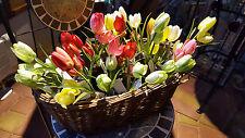 Kunstblume Deko-Blume Tulpe mit Erde Blumen Imitat