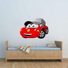 color dibujos animados Coche De Carreras Adhesivo Pared Dormitorio De Niños