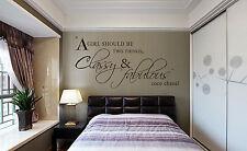 Una ragazza dovrebbero essere Classy & Fabulous Wall art Adesivi Da Parete UK sh71